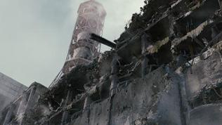 Blick auf den zerstörten Reaktor in Tschernobyl in einer Szene des Films «An einem Samstag» (undatierte Filmszene).