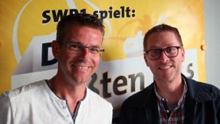 Autor Jan Weiler und SWR1 Moderator Frank Jenschar