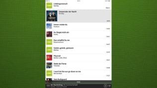 Foto eines Tablets, das die neue SWR4 App zeigt