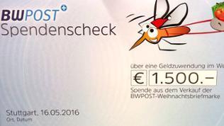 Spendenscheck über 1.500 Euro