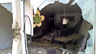 zerstörtes Cafe