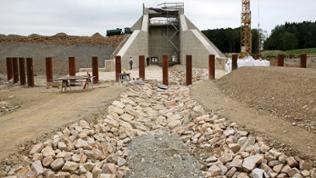 Hochwasserrückhaltebecken wird gebaut
