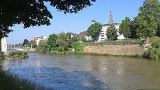 Ansicht von Ulm mit Donau