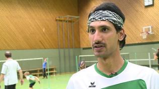 Shabal Ahmed in der Halle.