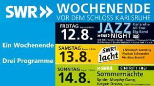 SWR Wochenende vor dem Karlsruher Schloss