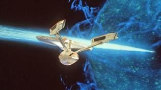 "Flaggschiff der Serie ""Star Trek"", die USS Enterprise."