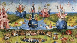 """Mitteltafel des Tryptichons """"Der Garten der Lüste"""" von Hieronymus Bosch"""