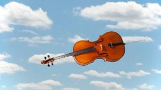 Cello im Himmel