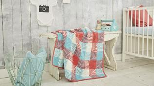 Babydecke in Patchwork-Technik