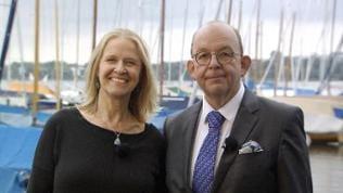 Cornelia Funke und Denis Scheck