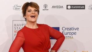 US entertainer Gayle Tufts arriving on the red carpet for the 28th European Film Award ceremony in Berlin, Germany, late 12 December 2015