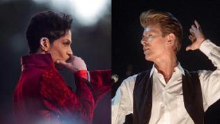 Collage Prince und David Bowie
