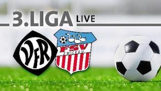 Die Logos von VfR Aalen und FSV Zwickau, daneben ein Fußball.
