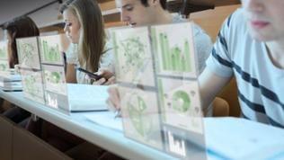 Schüler lernen digital