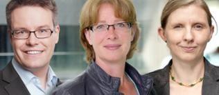 Tobias Lindner, Tabea Rößner und Corinna Rüffer