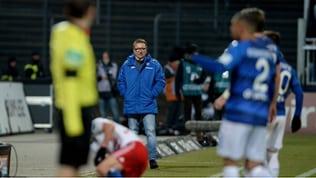 Norbert Meier als Trainer von Darmstadt