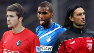 Philipp Zulechner (SC Freiburg), Ryan Babel (Hoffenheim), Hakan Yakin (VfB Stuttgart)