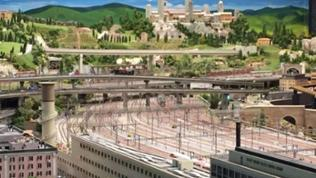 Blick auf das Gleisvorfeld