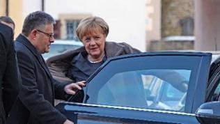 Bundeskanzlerin Angela Merkel bei der CDU Klausurtagung im Kloster Schöntal 2
