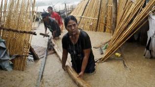 Typhoon Sarika sorgte im Oktober 2016 für Überschwemmungen auf den Philippinen