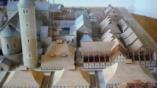 Das Modell einer Klosterstadt, aufgenommen in Aachen (undatiert)