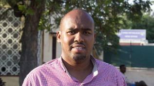 Der somalische Journalist Abdikarim Alikaar