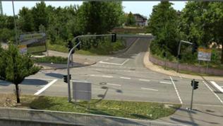 Der Bahnübergang in Nierstein, wie er zurzeit aussieht