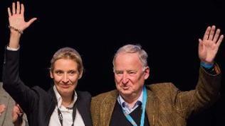 Alice Weidel und Alexander Gauland beim AfD-Bundesparteitag