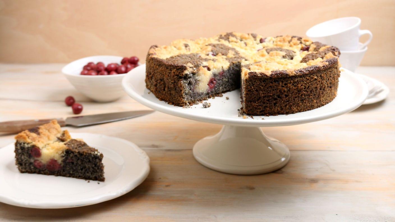 Kirsch Schmand Kuchen Mit Streusel Ernahrung Kaffee Oder Tee