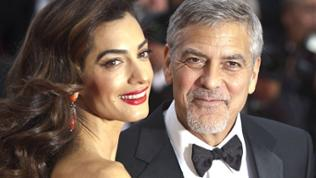Amal und George Clooney in Cannes