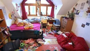 Unaufgeräumtes Zimmer