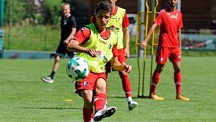 Bartosz Kapustka im Trainingslager des SC Freiburg