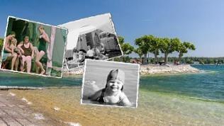 Bodenseeufer bei Konstanz / historische Urlaubsfotos (Bildcollage)