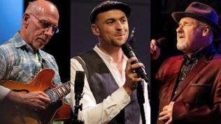 Montage: Larry Carlton , Max Mutzke und Paul Carrack