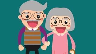 Grafik älteres Paar