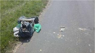 Müll liegt am Straßenrand im Bad Kreuznacher Stadtteil Winzenheim