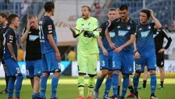 Enttäuschte Spieler der TSG Hoffenheim