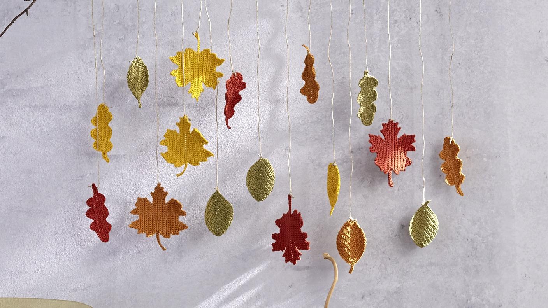 Herbstliche Blätter Häkeln Kreativ Ard Buffet Swrde