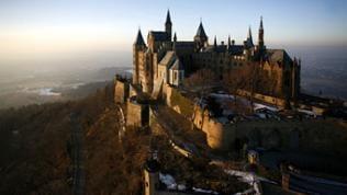 Die Burg Hohenzollern von oben
