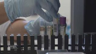 Reagenzgläser in einem Labor mit Milchproben