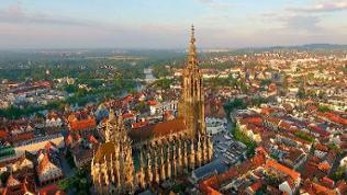 Ulmer Stadtansicht mit Münster - Luftbild