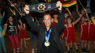 Frank Stäbler jubelnd