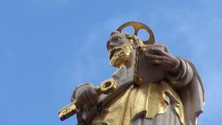 Figur in Trierer Innenstadt
