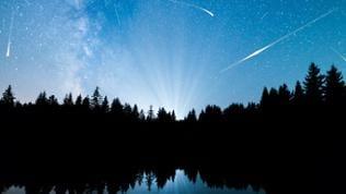 Sternschnuppenhimmel Symbolbild