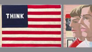 William N. Copley: Imaginary Flag for U.S.A., 1972 / Alex Katz: Scott and John, 1966