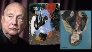 Georg Baselitz Bildcollage mit seinen Gemälden