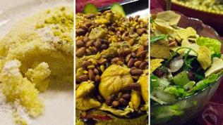 Montage: Maamoul, maqloubq und Fattouch