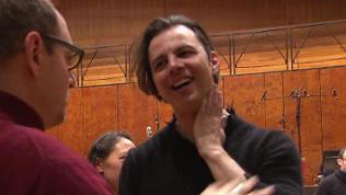 Teodor Currentzis bei den Proben mit dem SWR Symphonieorchester am 15.1.18