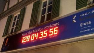 Countdown-Uhr am Alten Rathaus in Künzelsau