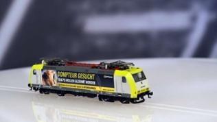 """Die Baureihe 185 gibt es von Kühn als Captrain Lok """"Domteur gesucht"""" für TT Bahner."""